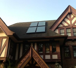 Water-heating solar panels top uRth HAUS.